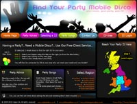 Party DJ Disco Site